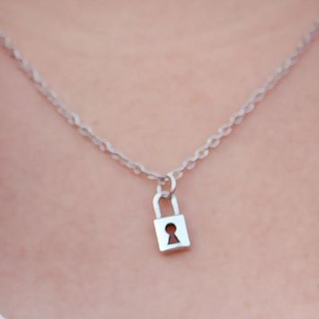 Cute Lock Pendant Necklaces For Women