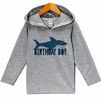 7 ate 9 Apparel Kid's Shark Birthday Hoodie
