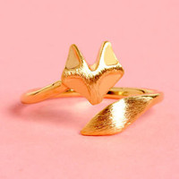 Sly as a Fox Gold Knuckle Ring