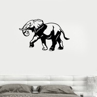 Vinyl Decal Elephant African Animal Zoo Lids Room Decor Wall Stickers Unique Gift (ig128)