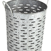 Better Homes and Gardens Galvanized Round Bin, Silver from Walmart | BHG.com Shop