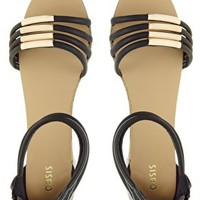 Oasis Metal Tube Flat Sandals at asos.com