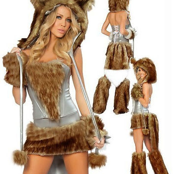 Wolf Cosplay Anime Cosplay Apparel Holloween Costume [9220288516]