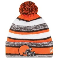 Mens Cleveland Browns New Era Orange On-Field Sport Sideline Cuffed Knit Hat