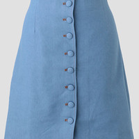Downtown Stroll Chambray Skirt