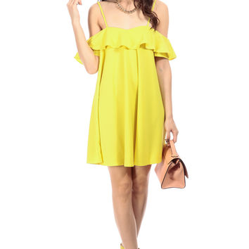 Lemon Pop Woven Shift Dress