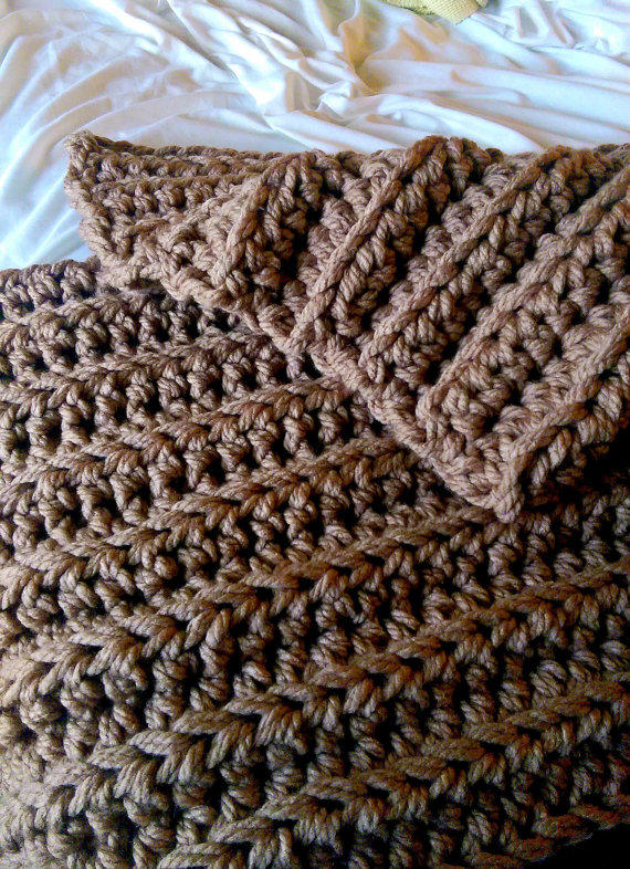 super chunky crochet blanket soft from the snugglery the