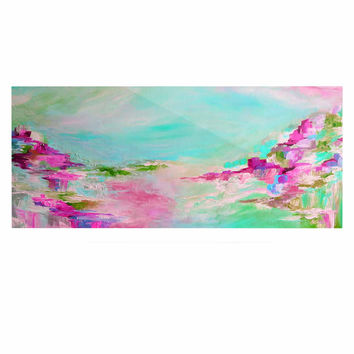 "Ebi Emporium ""Something About the Sea 2"" Teal Pink Luxe Rectangle Panel"