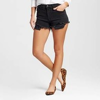 Women's High-rise Shorts with Raw Hem Black - Mossimo™