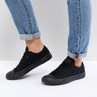 Converse Chuck Taylor All Star Core Black Mono Trainers at asos.com
