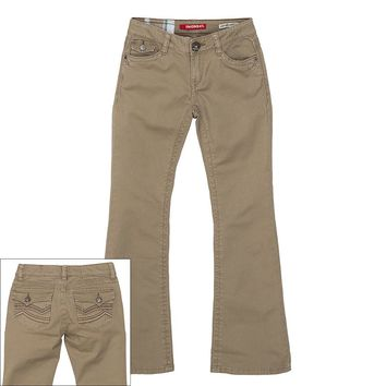 Unionbay Embroidered Twill Bootcut Pants - Girls