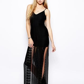 For Love & Lemons Summer of Love Maxi Dress - Black