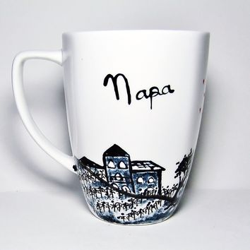 Napa Valley Landscape Art - Long Distance Love Mug