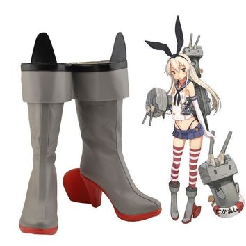 SHIMAKAZE Cosplay Shoes Kantai Collection Anime boots