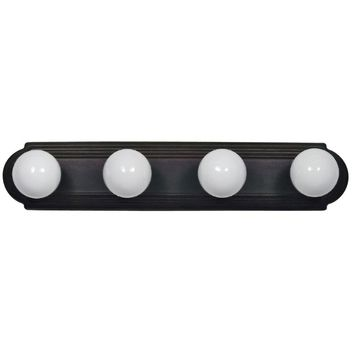 Brilliant Piece of 4 Lights Vanity Lighting in Dark Brown