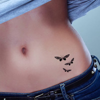 Butterfly tattoo pack of 3 temporary tattoos