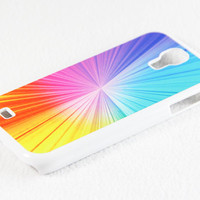 Shiny Rainbow Color Galaxy S4 Rubber Case Samsung Galaxy S4 + S3 Rubber Case and S2 NOTE 2 Hard Cover Case