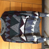 Zigzag Geometric Comfy Vintage Sweater