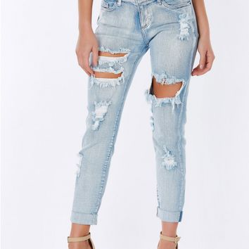 Bullseye Distressed Jeans
