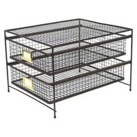 Threshold Rustic Wire 2-drawer Organizer : Target
