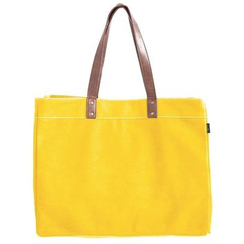 New! Waxed Mustard Canvas Carryall Tote