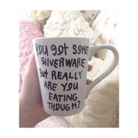 Yeah you got some silverware but really are you eating though? Childish Gambino Bino Coffee Mug