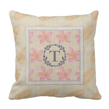 Make Your Monogrammed Hawaiian Pillow