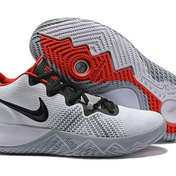 NIKE ZOOM ASSERSION EP Kyrie 3 White/Black/Red Basketball Shoe