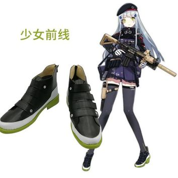 2018  New Game Girls Frontline HK416 Cosplay Costume Halloween Carnival Battle Unifrom hero punk lolita Shoes boots