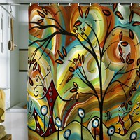Deny Designs Madart Inc. Fall Colors Fabric Shower Curtain (White)