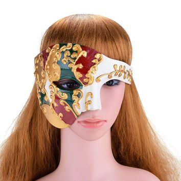 FunPa Vintage Design Mens Party Mask Male Phantom Of The Opera Masquerade Cool Half Face Mask For Masquerade Party Free Shipping