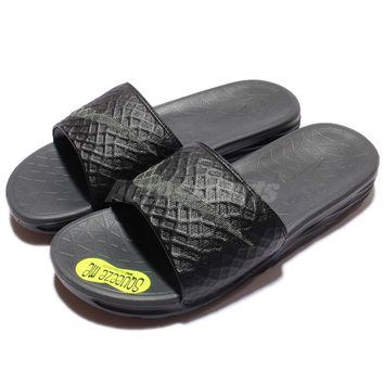 Nike Benassi Solarsoft 2 Black Grey Mens Sandal Slides Slippers 705474-091