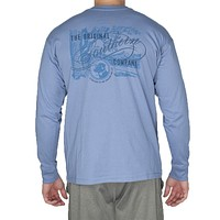 The Original Southern Company Long Sleeve Tee Shirt in Allure Blue by Southern Proper