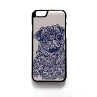 pug mandala for phone case iPhone 4/4S, iPhone 5/5S/5C, iPhone 6/6S/6 Plus/6S Plus