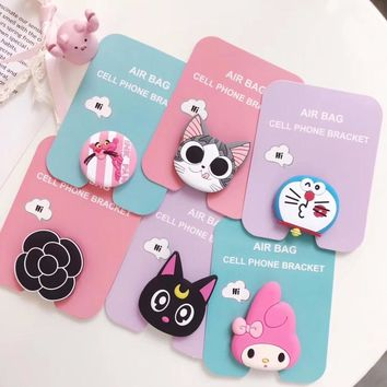Phone Holder Cute kitty cony Ring bracket base  Grip Mount Stand Finger Expanding stand Finger Support Stand  for iPhone