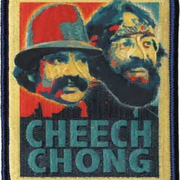 Cheech And Chong Iron-On Patch Retro Logo