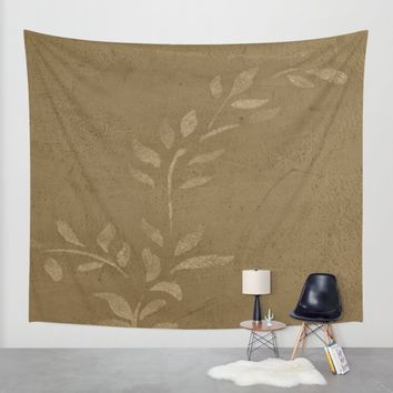 Sepia Vine Vintage Floral Wall Tapestry by Corbin Henry | Society6