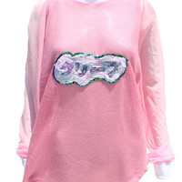 CREEP Sequined Japanese Oversized Sweater- Pink