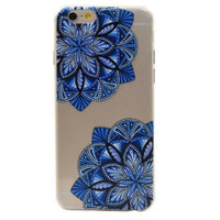 Retor Style Lace Blue Flower Mobile Phone Case For Iphone  5 5s SE 6 6s 6plus 6s plus + Nice gift box!