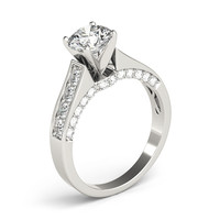 Engagement Ring -Cathedral Diamond Engagement Ring-ES2015