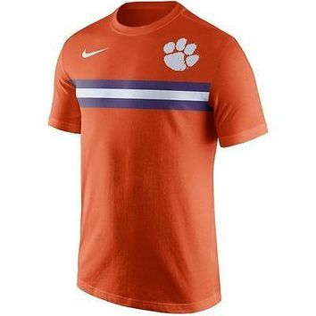 Clemson Tigers Men's Shirt Nike Team Stripe T-Shirt Orange
