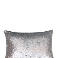 """Molly Mermaid Reversible Sequin Pillow - Silver - 12"""" x 18"""""""