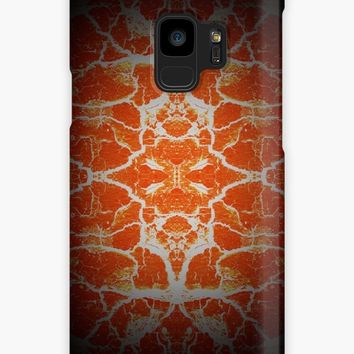 'Orange kaleidoscope pattern' Case/Skin for Samsung Galaxy by steveball