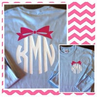 LONG SLEEVE Circle Bow Monogram T-Shirt Womens Vinyl