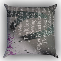 Mean to me brett eldredge quote Zippered Pillows  Covers 16x16, 18x18, 20x20 Inches
