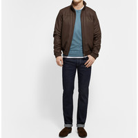 Loro Piana - Beaver-Lined Leather Bomber Jacket | MR PORTER