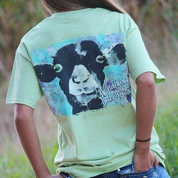 Sassy Frass Whatever Floats Your Goat Watercolor Goat Girlie Bright T Shirt