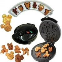 Disney Mickey &Gang 5 in 1 Tasty Baker Waffle Maker,Bakes Pancake,Muffins, breads, cakes, and brownies
