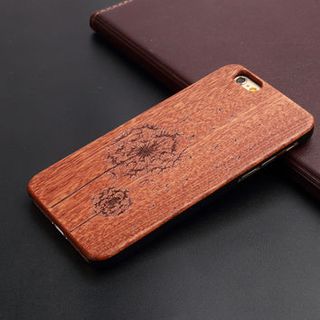 Dandelion wood iPhone Case 5,5s,SE,6,6S,6+,7,7+