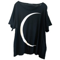 CRESCENT TEE at Wildfox Couture in CLEAN BLACK